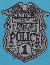HARLEY DAVIDSON MOTORCYCLES POLICE PATCH ( Gray/Black)