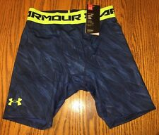 NWT Men's Under Armour HeatGear Sonic Printed Compression Shorts Blue Size: Med