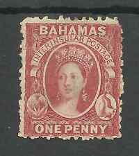 BAHAMAS  SG23 THE 1863-77 QV 1d ROSE RED UNUSED CAT £70