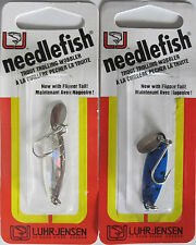 2 - LUHR-JENSEN Needlefish Trolling Spoon - #1 Size - Two Great Colors!