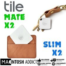 Tile Mate Combo Pack 2x Mate 2x Slim Multipurpose Bluetooth Tracker  Android iOS