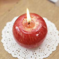 New Christmas Red Apple Shaped Scented Candles Home Office Decor Xmas Gifts