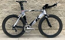 Cervelo P2C 56cm Triathlon TT Carbon Bicycle Reynolds Tubular wheels Dura Ace