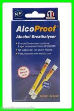 AlcoProof Breathalyzer Twin Pack Kit [ALCNFTWIN] EU Approved Breathalyser Tester
