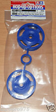 Tamiya 54680 2WD Buggy Front Star-Dish Wheels (Blue) (Dyna Storm/DT02/*53085)