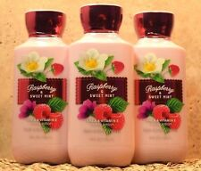 3 BATH AND BODY WORKS RASPBERRY & SWEET MINT**LOTION CREAM**BRAND NEW SET GIFT