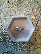 Vintage 14K .47ct Heart Diamond Solitaire Ring with 14K Diamond Ring Jacket
