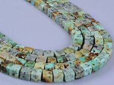 0126 6mm Gemstone African turquoise cube loose beads 16""
