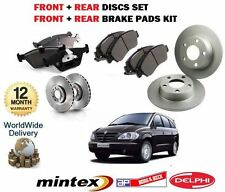 FOR SSANGYONG RODIUS 2.7DT 2005--  FRONT & REAR BRAKE DISCS AND DISC PADS KIT