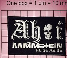 "#813 RAMMSTEIN"" METAL BAND LOGO EMBROIDERED IRON ON PATCHES"