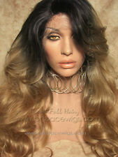 Dark Root blonde lace front Naughty Girl, Kim Kardashian lace front wig, ombre