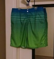 Men's Speedo® green/blue Swim Trunk Size: L (36-38) pre-owned #1996