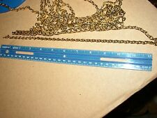 LAMP PARTS-- CHAIN--#16 BRASS PLATED HANGING OIL LAMP CHAIN--BUY THE FOOT