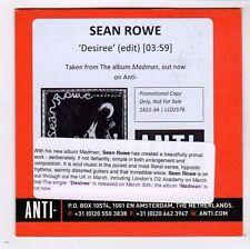 (FY852) Sean Rowe, Desiree - 2014 DJ CD