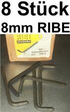 8x CHIAVE PIN 8mm RIBE DIN 6911 INBUS RUBINETTO A BUSSOLA ESAGONALE INTERNAMENTE