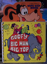Goofy Big Man in the Big Top, Walt Disney Wipe-Off Book, Golden Book, 1979