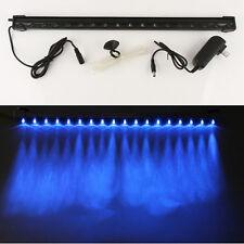Aquarium Fish Tank Air Curtain Bubble Stone Blue 18 LED Light Bar for Air Pump