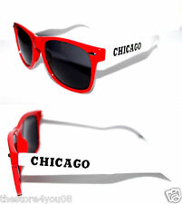 Men's Women's Wayfarer Sunglasses shades red white chicago bulls colors Retro