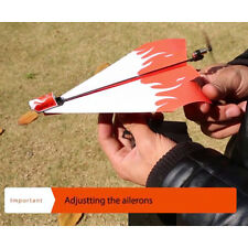 Electric Fold Paper Glider Module DIY Powerup Air Plane Launcher Outdoor Kid Toy