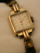 Rare 14K Solid gold vintage 1942 Ladies' Dress 17J Bulova Swiss  wristwatch
