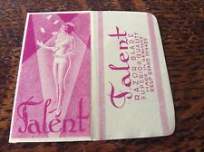Vintage Razor Blade & Wrapper 'Talent'