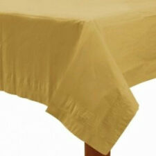 CHRISTMAS NEW YEAR'S EVE GOLD BIRTHDAY 2x PARTY PAPER TABLECLOTH TABLE COVER!