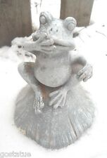 NEW latex only MOLD frog on mushroom cap plaster concrete mold