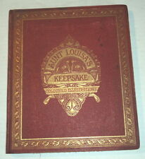 AUNT LOUISA'S KEEPSAKE w/ 24 BRILLIANT CHROMOLITHOGRAPHS  circa 1865-1880
