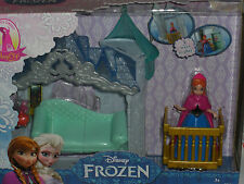 NEW 2014 DISNEY FROZEN MINI MAGICLIP ANNA FLIP 'N SWITCH CASTLE  PLAY SET