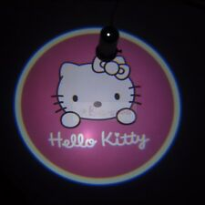 2x Cute Pink Hello Kitty Car Door LED projection welcome logo shadow ghost light