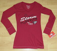 GUELPH STORM OHL HOCKEY V-NECK LONG SLEEVE SHIRT T-SHIRT WOMENS SMALL