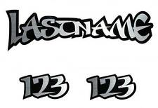HELMET NAME DECALS custom made - motorcycle mx bmx atv  motocross bicycle