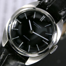 1960s Rare Vintage IWC 2229 Automatic Black Dial Women's Dress Watch