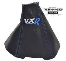 FOR OPEL VAUXHALL ZAFIRA II MK2 B GEAR STICK GAITER LEATHER BLUE EMBROIDERY VXR