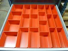 """65pc 3"""" Deep Organizer Storage Bins Toolbox Tray  Dividers fit Lista & Vidmar"""