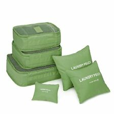 6 Pc Lingerie Cosmetic Travel Luggage Toiletry Pouch Bag Case Organizer(Green)