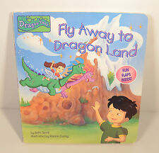"""2000 Fly Away To Dragon Tales Land 9""""x8"""" Hidden Flap Book CTW Books (16 flaps)"""