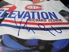 Richard Zednik Signed Auto Les Canadiens Magazine Vol 18.3