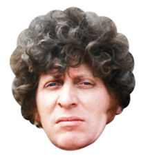 Tom Baker The Fourth (4th) Doctor Who Single Card Face Mask - Great for Parties!