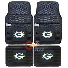 Green Bay Packers Front Floor Mat Rare Utility Mat 4pc Rubber NFL Fanmats Auto