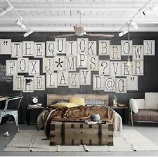1Wall CREATIVE COLLAGE 64 Piece CLASSIC TYPOGRAPHY Designer Wallpaper 7 sqm