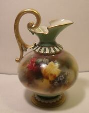 Royal Worcester Hand Painted Hadley Roses Ewer 209
