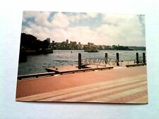 Vintage 80s Photo Vacation Australia Boat Docks Profile Of City In Distance