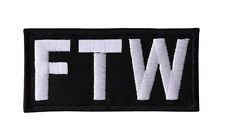 FTW Embroidered Iron On Motorcycle Biker Vest Patch P3