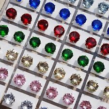 Hot Sale 72pcs Stainless steel Cubic Zirconia Stud Earrings Wholesale Jewelry