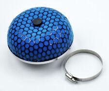 """Universal 3"""" 76MM Mushroom Short & Cold Air & Turbo Intake Filter - Blue Black"""