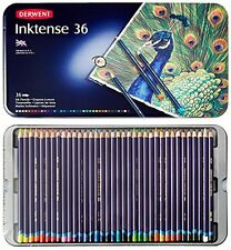 Derwent Drawing Pencils, Inktense, 4mm Core, Metal Tin, Watercolor, 36 Per Pa...