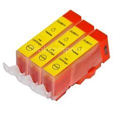 3 für CANON Patronen mit Chip CLI-521 Y IP 3600 IP 4600 MP 540 MP 550 MP 560 NEU
