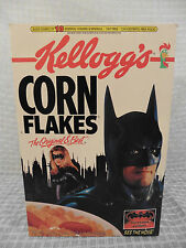 1997 BATMAN & ROBIN Kellogg's Corn Flakes Cereal Box UNOPENED Clooney Six Flags