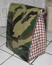CAMOUFLAGE Military ARMY Oilcloth LUNCH BAG Tote Luncheon Food Storage Lunchbox